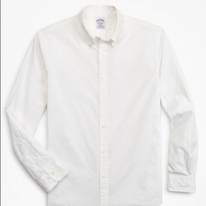 Brooks brothers white Regent button down shirt